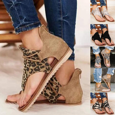 Summer, Plus Size, Flats shoes, summersandal