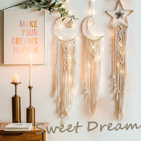 Star, Home Decor, Dreamcatcher, macramewallhanging