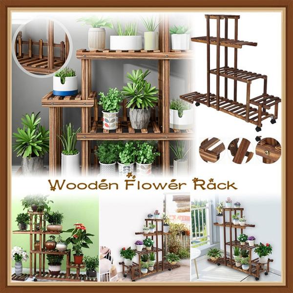 flowerdisplayholder, woodenstand, Plants, multitierstand