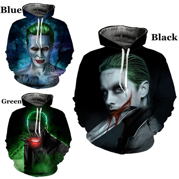 3D hoodies, 3djokerhoodie, suicidesquadhoodie, Fashion Hoodies