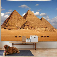 Decor, pyramid, Wall Art, hippie