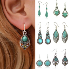 Turquoise, Christmas, Earring, wedding earrings