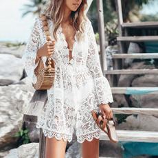 Summer, Lace, Dress, short dress