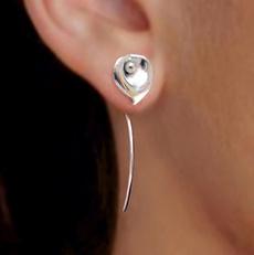 Sterling, Flowers, Dangle Earring, Jewelry