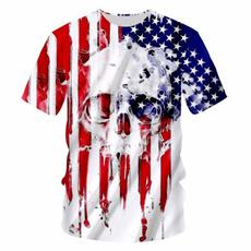 Funny, Shorts, americanindependenceday, skull