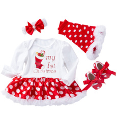baby4outfit, Christmas, Long Sleeve, Tutu
