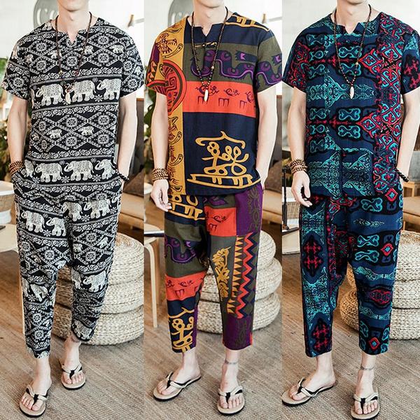 pajamaset, SuitMen, Plus Size, Shirt