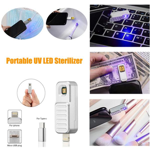 Mini, portableuvsterilizerlamp, led, usb