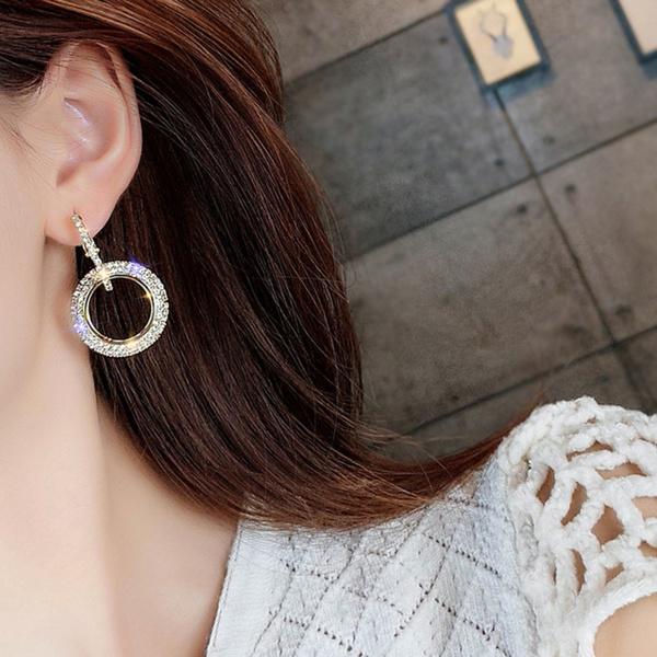 Cubic Zirconia, Hoop Earring, oorbelen, Jewelry