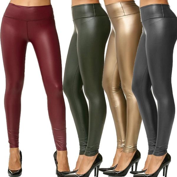 Leggings, high waist, sportsleatherpant, pants