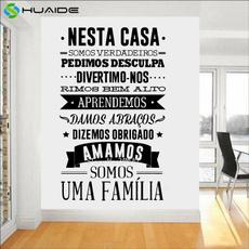 portuguese, casa, autocolante, Home & Living