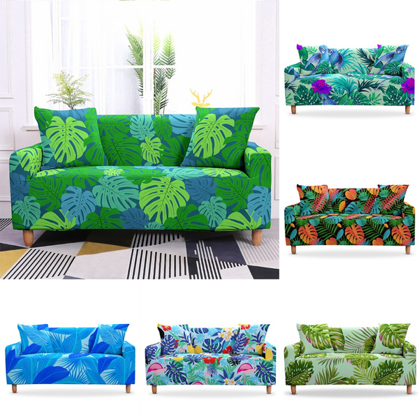 tropicplantsoafacover, sofacover3seater, living room, couchcover