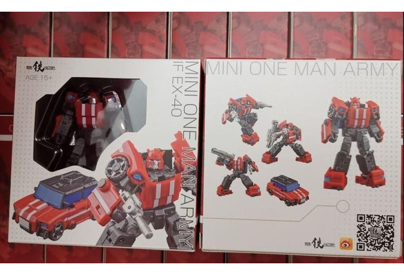 New Iron Factory Transformers toys IF EX-40 Mini One Man Army Cliffjumper In Sto