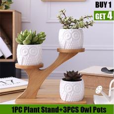 Bonsai, Owl, Plants, ceramicplantspot