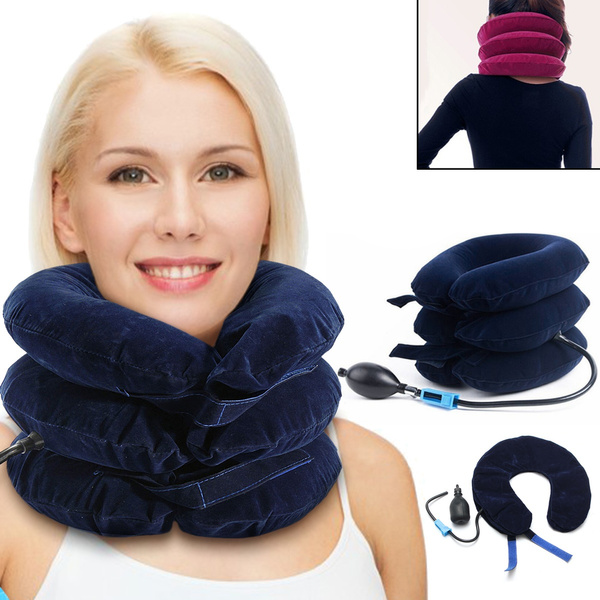 inflatablecushion, necksupport, cervicalpillow, necktractiondevice
