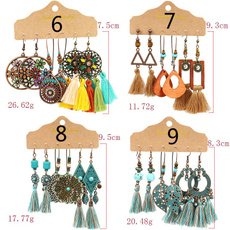 Tassels, Flowers, Jewelry, vintage earrings