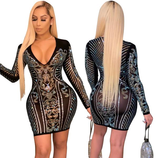 Mini, paisley, sexy club dress, sheer dress