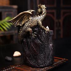 Antique, Home & Kitchen, Flying, dragonstatue