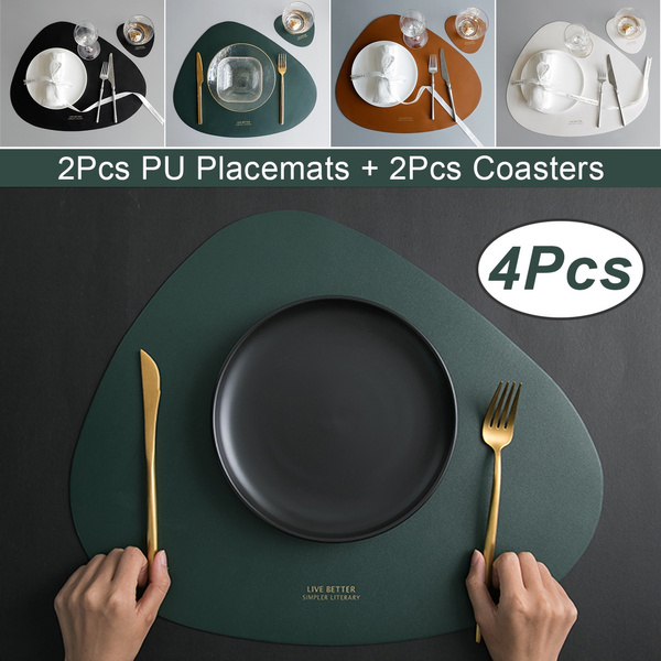 tablemat, Coasters, Cup, leather