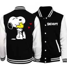 Jacket, Fashion, snoopyjersey, snoopybaseballjacket