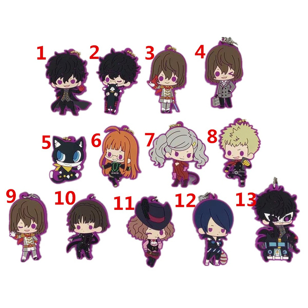 Cosplay, persona5keychain, Key Rings, strap