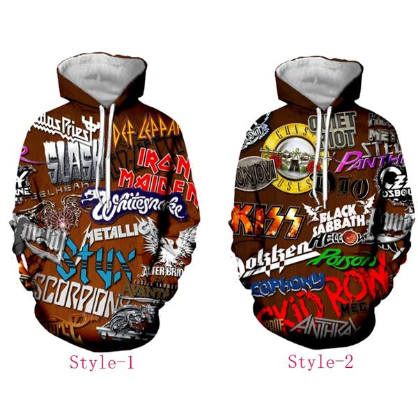 Funny Rock KISS Band 3D Print Women//Men Hoodie Sweatshirt Pullover tops Jumper