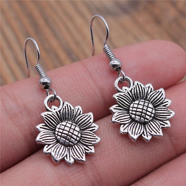 Fashion, Dangle Earring, Gifts For Men, Sunflowers