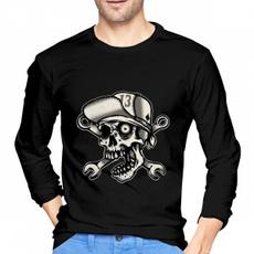 lucky13theskullbromenlongsleevetshirt, Funny T Shirt, #fashion #tshirt, skull