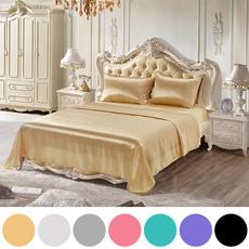 Blues, silky, silkbeddingsheet, Bedding