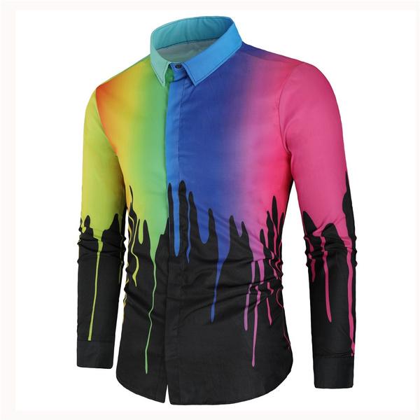Fashion, Shirt, Colorful, Long Sleeve