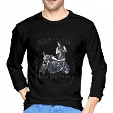 Men, borntoridethewalkingdeadmenlongsleevetshirt, Casual T-Shirt, Long Sleeve