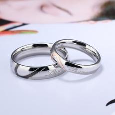 Steel, Heart, Romantic, 925 silver rings