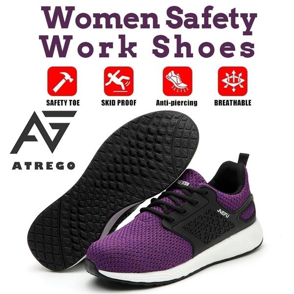 Steel Toe Cap Mesh Breathable Sneakers