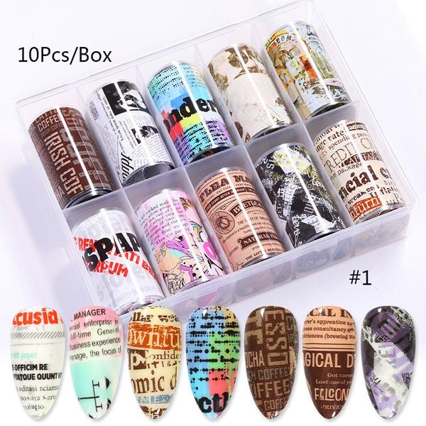 nailfoilset, nail stickers, nail tips, transfersticker