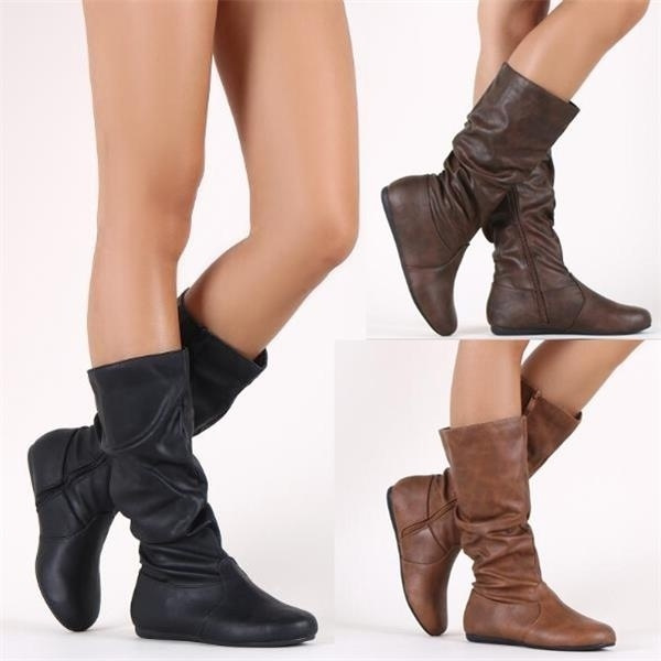 casual shoes, Knee High Boots, midcalfboot, Leather Boots