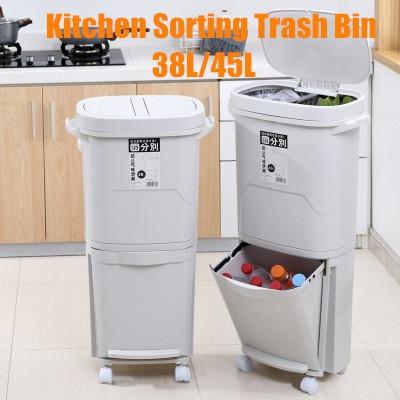 garbageclassificationbin, Bathroom, Kitchen & Home, kitchentrashcan