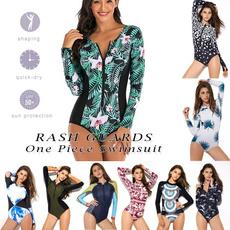 Fashion, womensrashguardswimsuit, Long Sleeve, longsleevesswimwear
