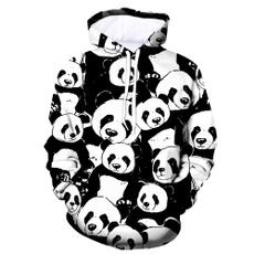 panda hoodie, Tops, Loose, Pullovers