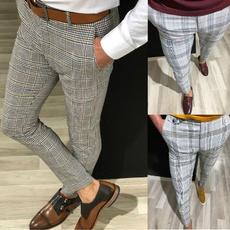 plaid, Casual pants, businesspant, pants