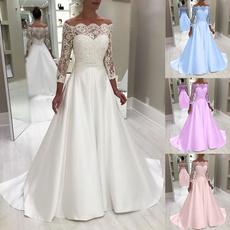 gowns, bridesmaidwedding, Princess, Lace