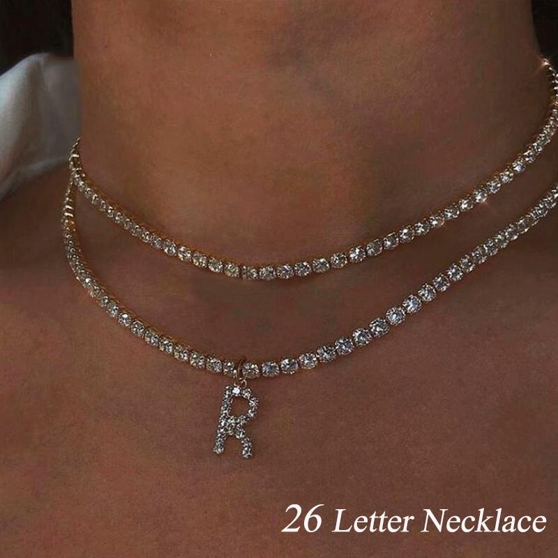 Womens Statement Silver Dark Purple Crystal Diamante Rhinestone Chain Necklace
