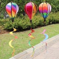 hotairballoon, spinningwindmill, Toy, courtyarddecoration