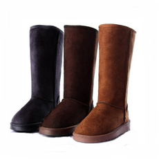 casual shoes, Flats, Winter, long boots