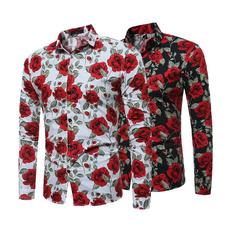 Flowers, Floral, Shirt, Sleeve