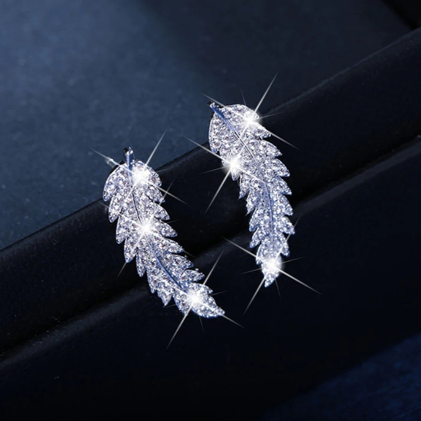 loverearring, designearring, leaf, Jewelry