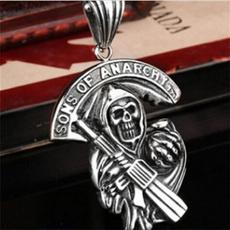 Pendant, Chain Necklace, Men, Skeleton