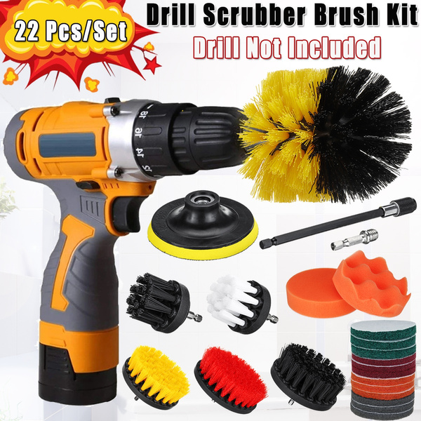 drillbrushset, drillscrubberbrush, drillbrushkit, bristlebrush