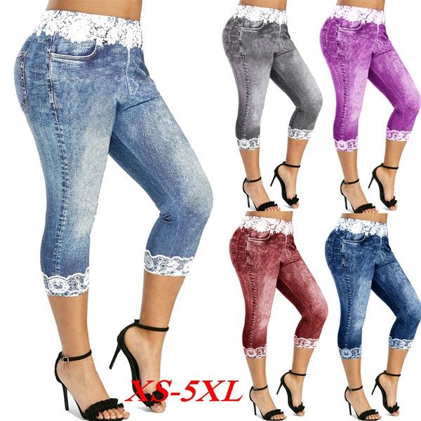 Leggings, Plus Size, Lace, pants