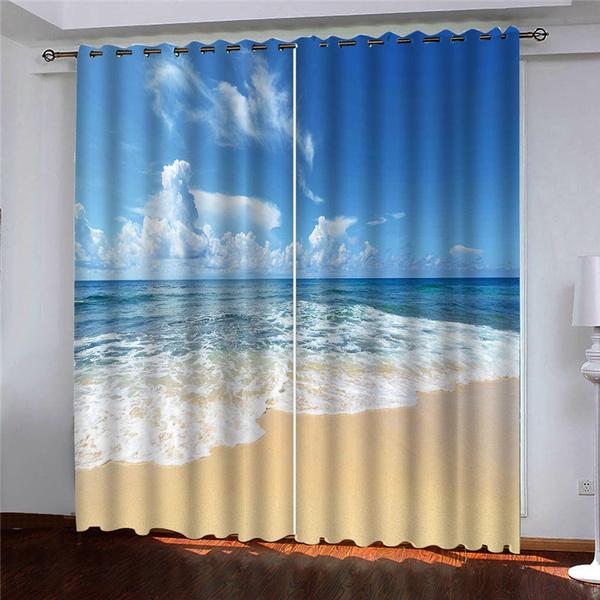 bedroomcurtain, seasidewindowcurtain, Nature, bedroom