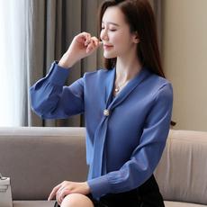 Fashion, chiffon, long sleeved shirt, fashion shirt
